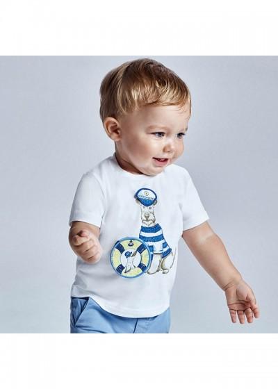 Tricou PLAY WITH imprimeu interactiv bebe baiat 1007 MYBL78X
