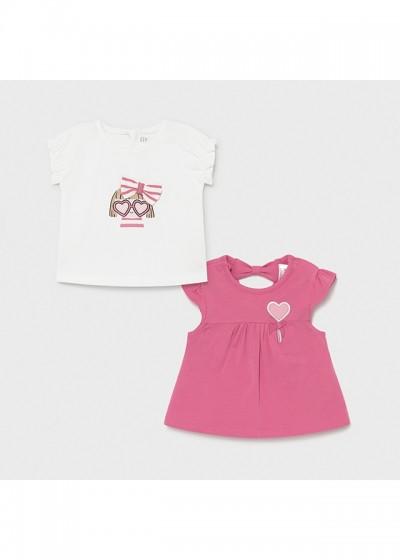 Tricou roz tricouri maneca scurta nou-nascut fata 1072 MYBL82X