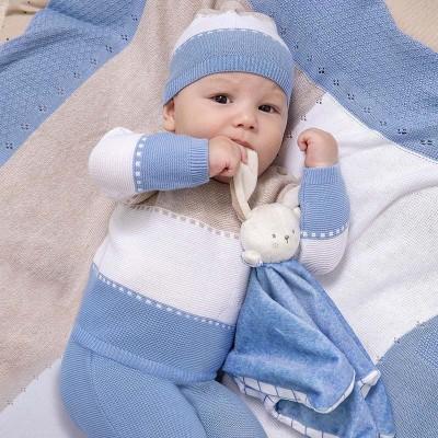 Set pantaloni cu botosei tricot Ecofriends nou-nascut baiat 01565 MYSET05X