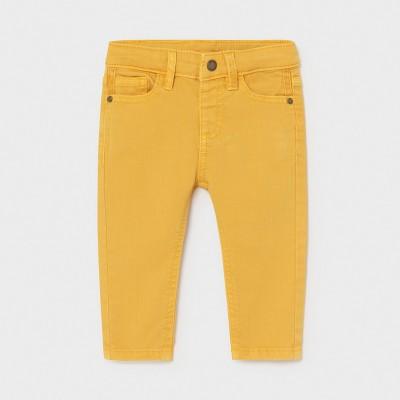Pantaloni sarga tip denim bebe baiat 01579 - MYBG02X