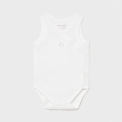 Body alb fara maneca nou-nascut Mayoral 1790 - MYBD01X