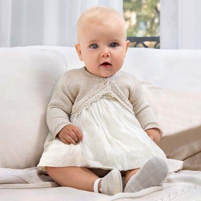 Rochie bej bebe fetita Mayoral 1823 - MYR02X