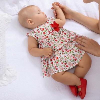 Rochie imprimeu ROSU new born fata 01831 MYR16X