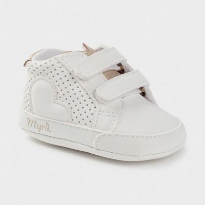 Pantofi albi sport arici new born fata Mayoral 9409 - MYTEN02X