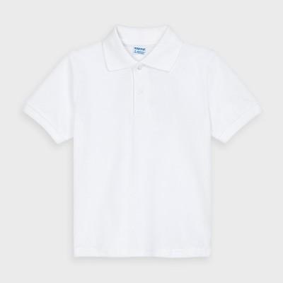 Tricou alb polo scoala MAYORAL 30160 MYBL56V