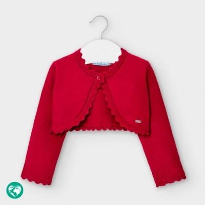 Bolero rosu tricot basic bebe fetita 308 MYBO101Y