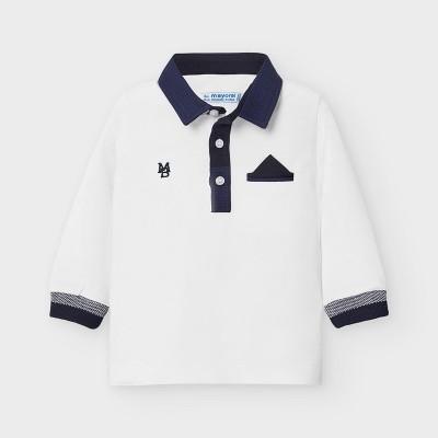 Bluza alba polo baiat MAYORAL 2121 MYBL117Y