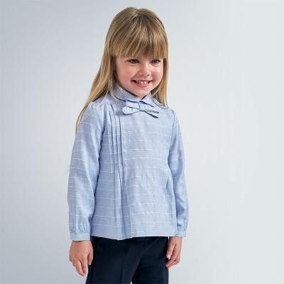 Bluza bleu guler fundita fetita MAYORAL 4148 MYCM09V
