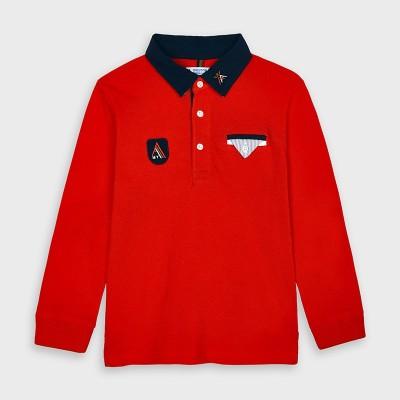 Bluza polo rosie baiat MAYORAL 4128 MYBL141Y