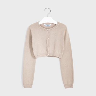 Cardigan auriu tricot basic fata 00326 MYBO104Y