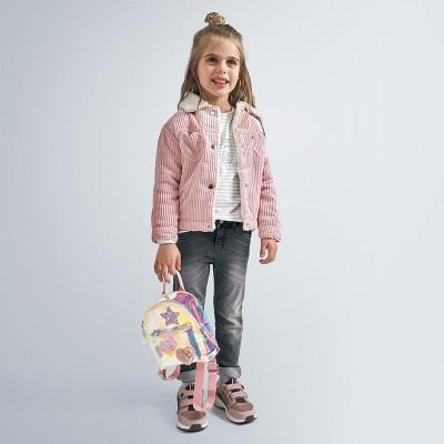 Geaca roz raiata cu blanita fetita MAYORAL 4407 MYG110Y