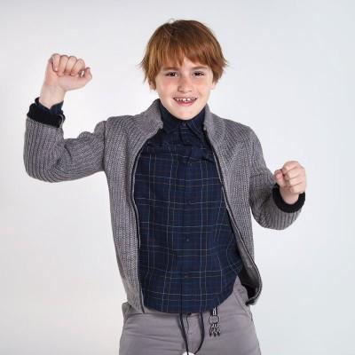 Hanorac gri tricot baiat MAYORAL 7339 MYG119Y