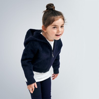 Jacheta bleumarin tricot fetita MAYORAL 4354 MYG106Y