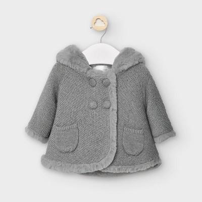 Jacheta gri tricot fetita MAYORAL 2337 MYG22V