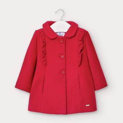 Palton rosu volanase bebe fetita MAYORAL 2406 MYG107Y