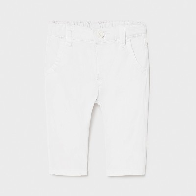 Pantaloni albi lungi bebe baiat Mayoral 595 - MYPL02X