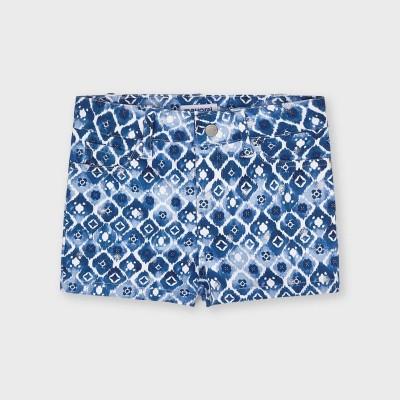 Pantaloni bleu scurti sarga imprimeu fetita MAYORAL 3209 MYPS16X