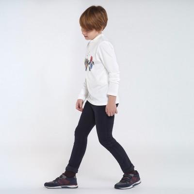 Pantaloni bleumarin raiati slim fit baiat MAYORAL 547 MYPL131Y