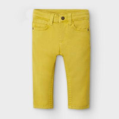 Pantaloni galbeni slim fit bebe baiat MAYORAL 563 MYPL109Y