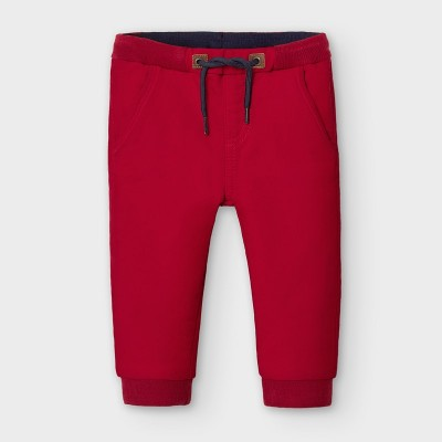 Pantaloni rosii jogger bebe baiat MAYORAL 2579 MYPL120Y