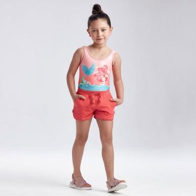 Pantaloni corai scurti de fetita MAYORAL 607 MYPS24X