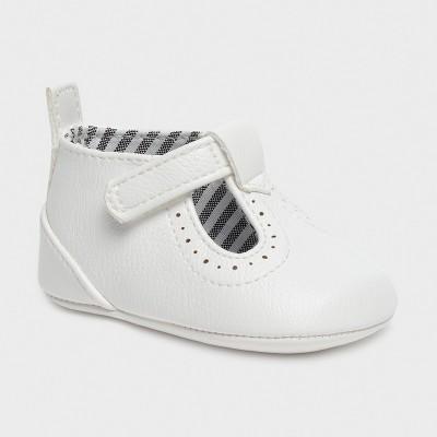 Pantofi albi piele ecologica baiat MAYORAL 9392 MYPANTF08X