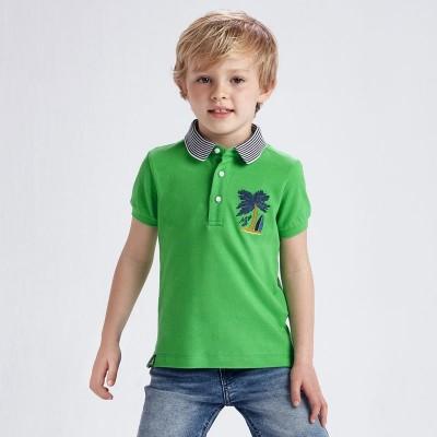 Tricou polo verde broderii baiat MAYORAL 3102 MYBL68X