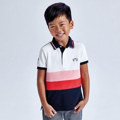 Tricou polo roz combinata baiat MAYORAL 3109 MYBL70X