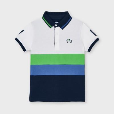 Tricou polo verde combinata baiat MAYORAL 3109 MYBL70X