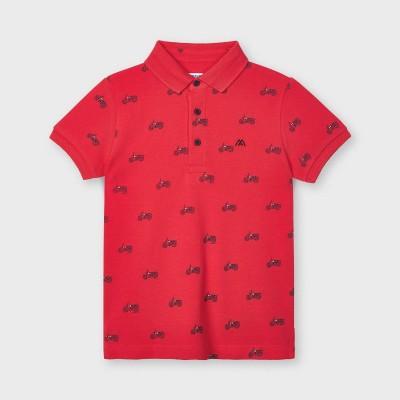 Tricou polo rosu cu imprimeu baiat MAYORAL 3106 MYBL51X