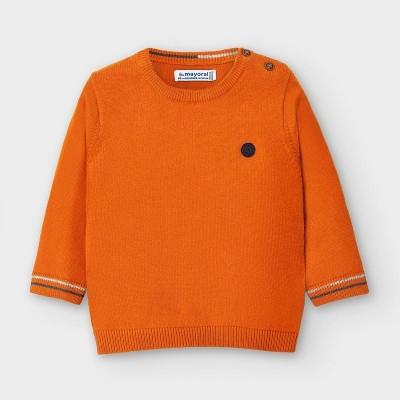 Pulover portocaliu guler rotund bebe baiat MAYORAL 351 MYBL107Y
