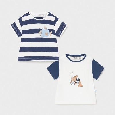 Set albastru 2 tricouri baiat MAYORAL 1075 MYBL35X
