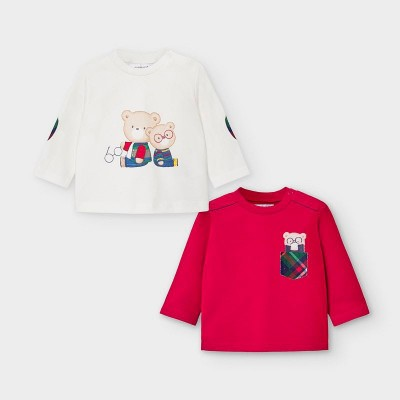 Set bluze alb-rosu nou-nascut baiat MAYORAL 2034 MYBL109Y