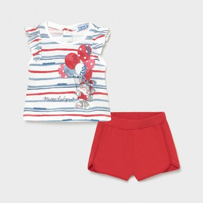 Set rosu short aplicatii fetita MAYORAL 1232 MYCS17X