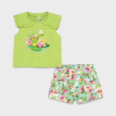 Set verde short broscuta fetita MAYORAL 1230 MYCS16X