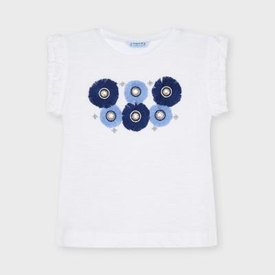 Tricou alb aplicatii flori fetita MAYORAL 3024 MYBL45X