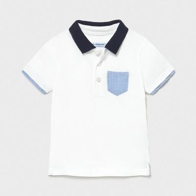 Tricou alb polo elegant baiat MAYORAL 1103 MYBL38X