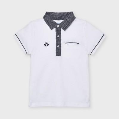 Tricou alb polo tailoring baiat MAYORAL 3110 MYBL52X
