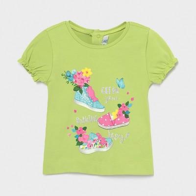 Tricou verde Ecofriends maneci incretite fetita MAYORAL 1087 MYBL62X