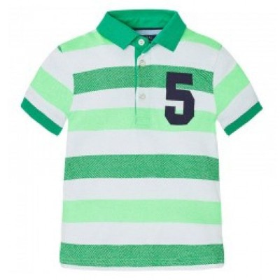Tricou dungi verde polo Mayoral MYBL429A