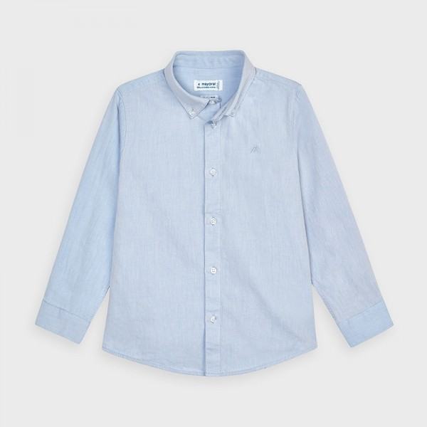 Camasa bleu basic maneca lunga baiat 00146 MYCM02V