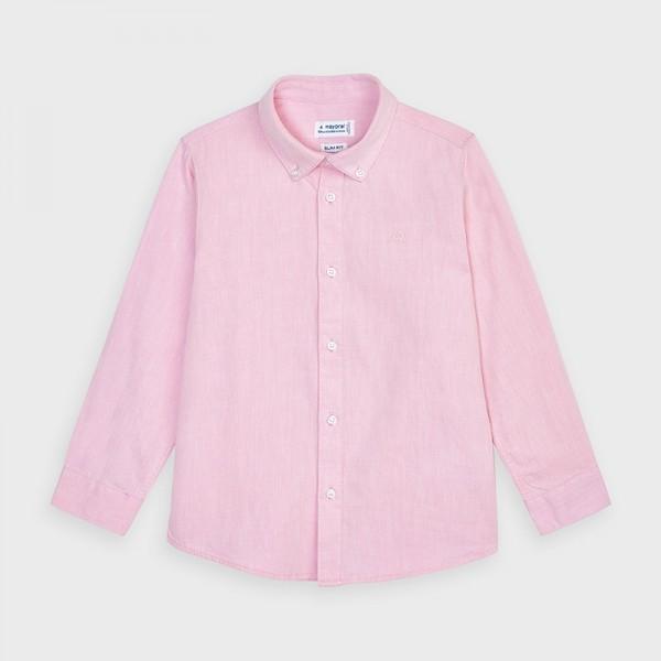 Camasa roz basic maneca lunga baiat 00146 MYCM02V