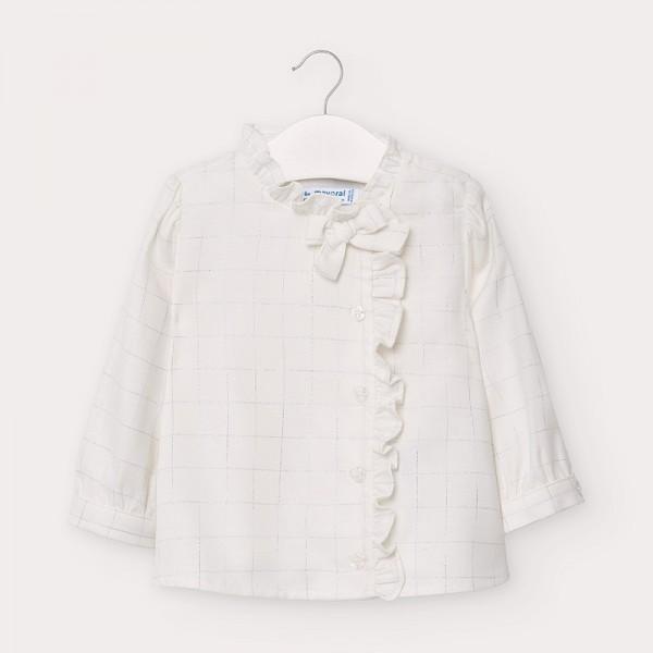 Bluza alba bebe fetita 02135 MYCM104Y