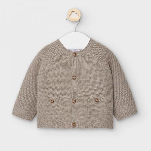 Cardigan maro deschis tricotat  baiat MAYORAL 2334 MYG02V
