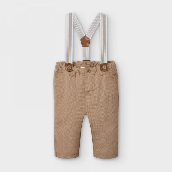 Pantaloni crem cu bretele baiat MAYORAL 2565 MYPL13V