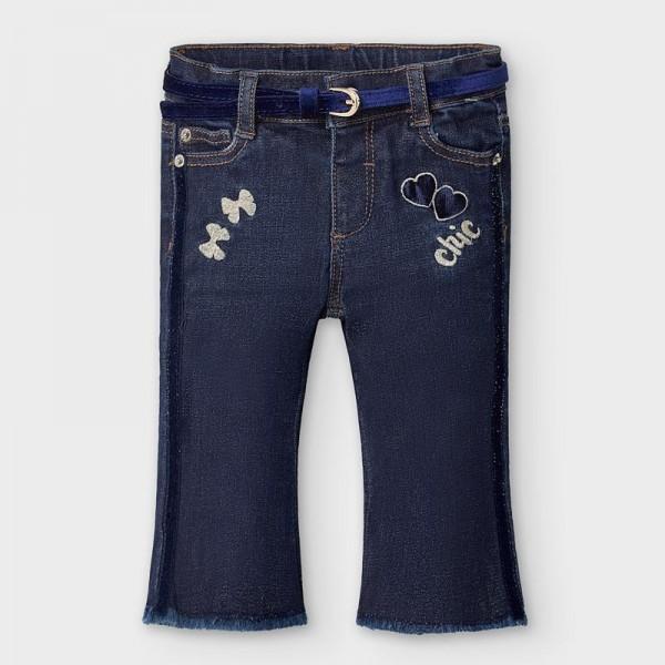 Pantaloni  bleumarin lungi denim clopot bebe fetita 2590 MYBG101Y