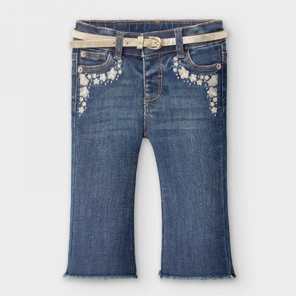 Pantaloni albastri lungi denim clopot bebe fetita 2590 MYBG101Y