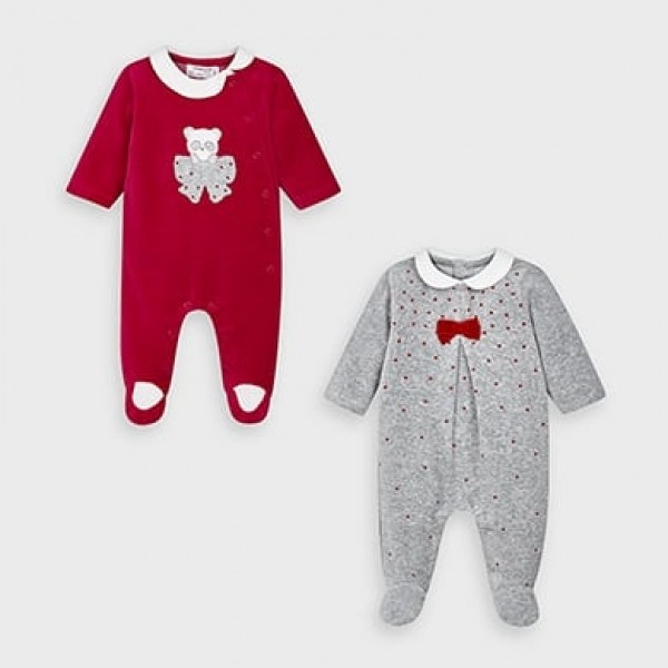 Set 2 pijamale plusate new born fata 02752 MYSET09V