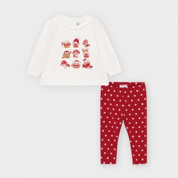 Set leggings rosu bufnite fetita MAYORAL 2791 MYSET35V