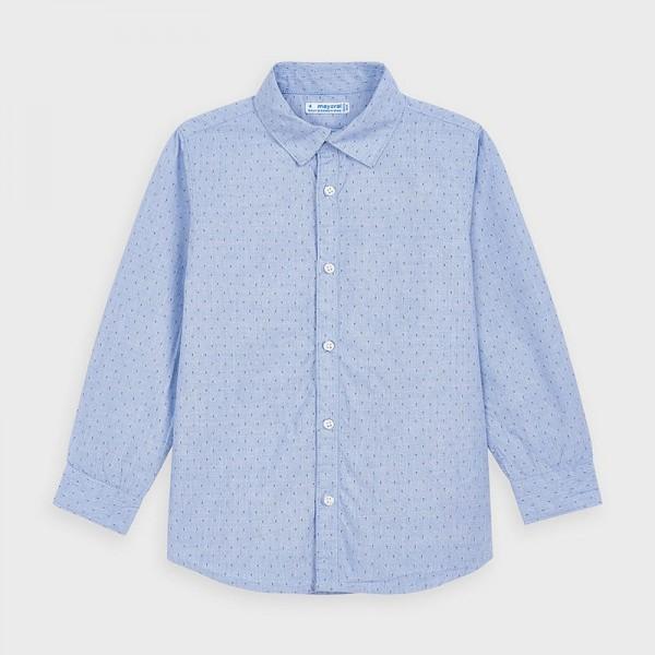Camasa bleu maneca lunga imprimeu baiat 4143 MYCM112Y